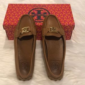 Tory Burch Kendrick Tumbled Leather Driving Loafer